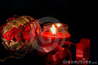 Christmas Candle Royalty Free Stock Images - Image: 307279