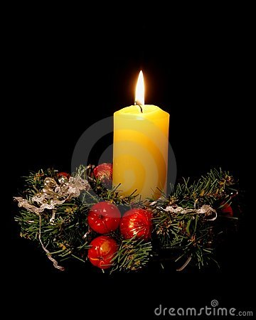 Free Christmas Candle Royalty Free Stock Images - 403629