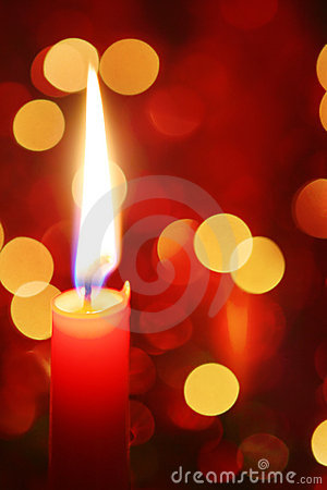 Free Christmas Candle Royalty Free Stock Photography - 5873997