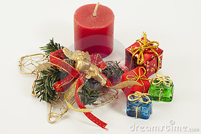 Christmas Candle and Presents
