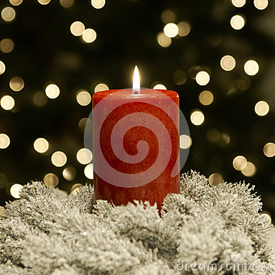 Free Christmas Candle Red Royalty Free Stock Photography - 27938267