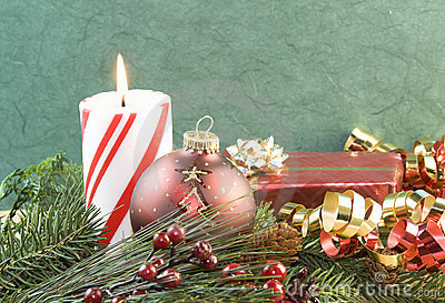 Christmas candle red ornament