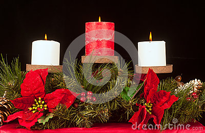 Christmas candle trio