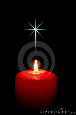 Free Christmas Candle With Cross Stock Images - 1348464