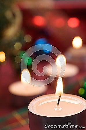 Christmas with candlelight