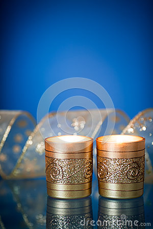 Free Christmas Candles Stock Photography - 26357912