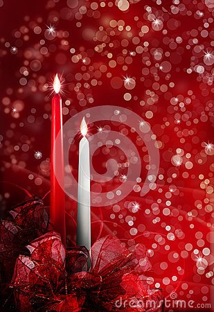 Free Christmas Candles Royalty Free Stock Photo - 32071365