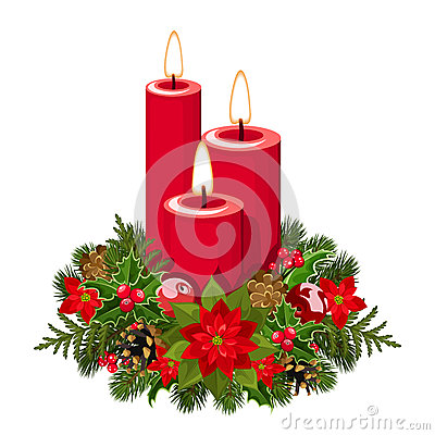 Free Christmas Candles. Stock Photography - 35625072