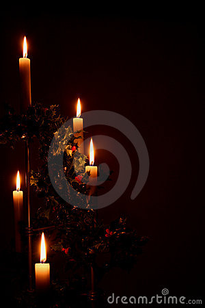 Free Christmas Candles Stock Photo - 417940