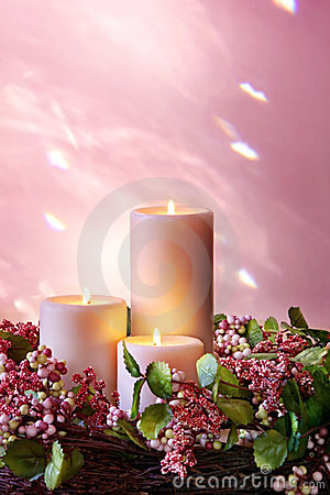 Free Christmas Candles Stock Photography - 5874052