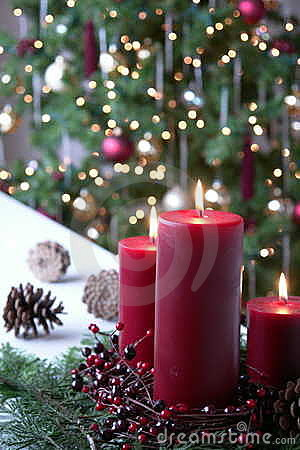 Free Christmas Candles Royalty Free Stock Photo - 7113065