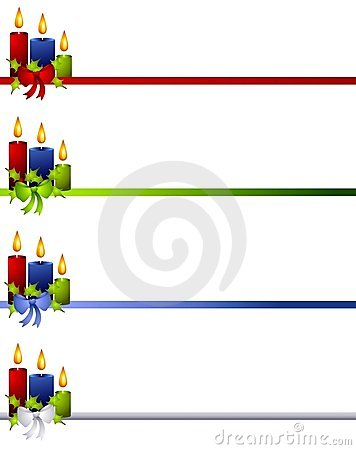 Christmas Candles and Bow Dividers