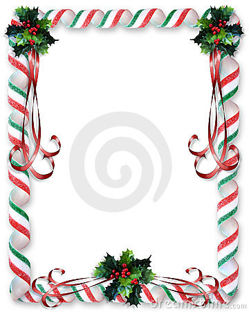 Christmas Candy and Holly border