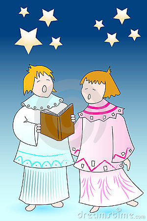 Christmas card angels chourus
