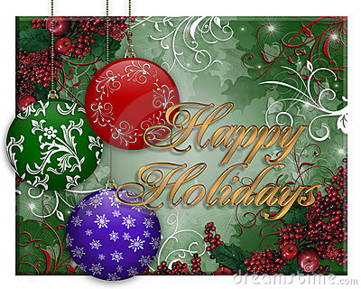 Christmas Card Background ornaments