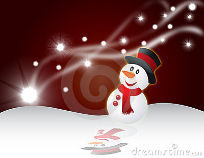 Christmas card background vector illustration