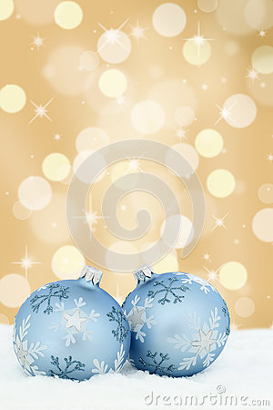 Free Christmas Card Balls Baubles Gold Golden Background Snow Royalty Free Stock Images - 77165189
