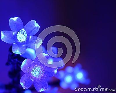 Christmas Card - Blue Wallpaper : Stock Photos