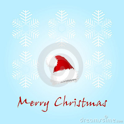 Christmas card with a cap