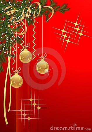Christmas card, cdr vector