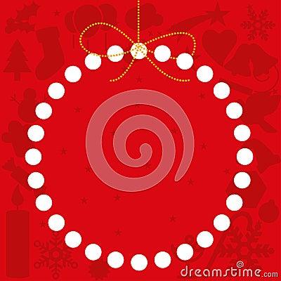 Christmas card copy space