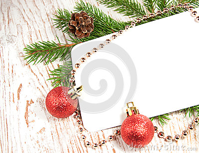 Christmas card with decorations