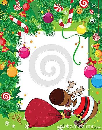 Christmas card and deer