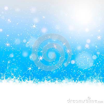 Christmas card design in blue background