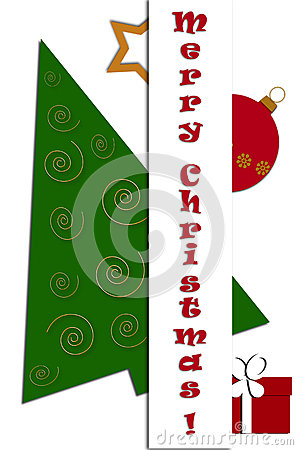 Christmas card design with greetings