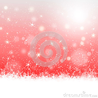 Christmas card design in red background