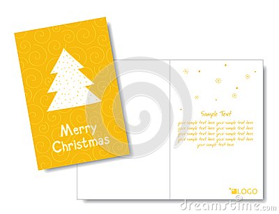 Christmas card design template