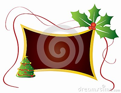 Christmas card frame gift background  illustration
