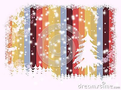 Christmas card, framed