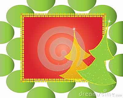 Christmas card gift background  illustration