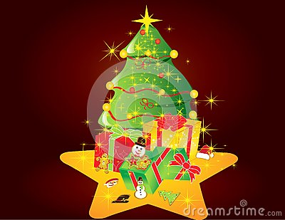 Christmas card gift background  illustration