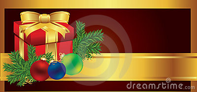Christmas card gift background vector illustration
