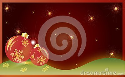Christmas card gift background vector illustration