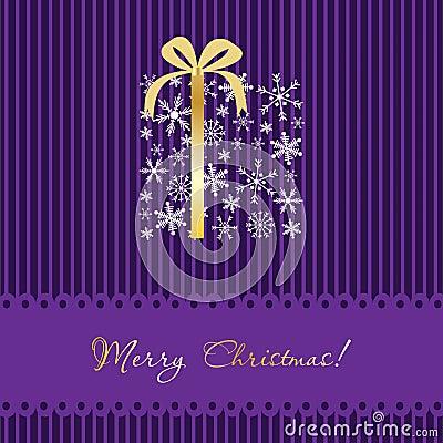 Christmas card with gift box