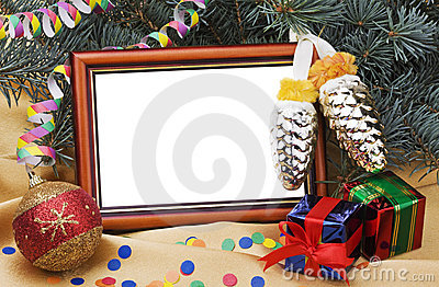 Christmas Card with gift boxes