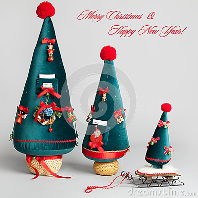 Free Christmas Card. Handmade Royalty Free Stock Images - 26838409