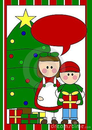 Christmas card with kids