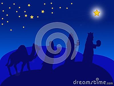 Christmas card - the Magi