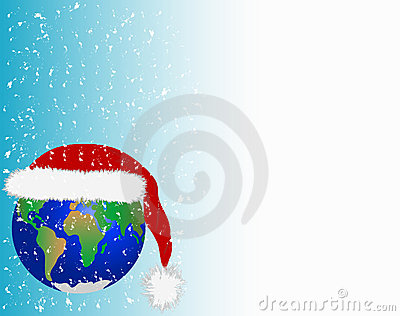 Christmas card in planet Earth