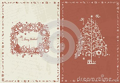 Christmas card retro for your design