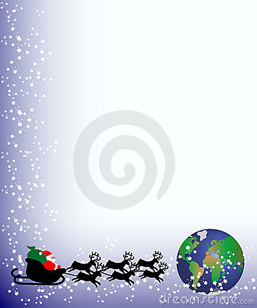 Christmas card santa to world