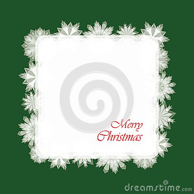 Christmas Card With Snowflakes. Paper
