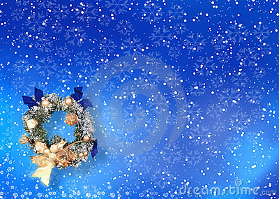 Christmas card with space for wishes
