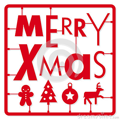 Christmas Card Typography Letters Type Font And