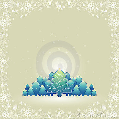 Christmas card, vector