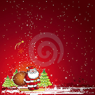 Free Christmas Card, Vector Royalty Free Stock Photography - 3529327